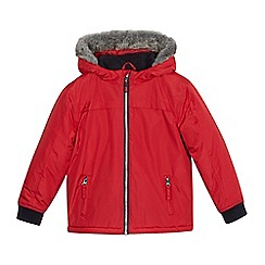 bluezoo - Boys' red fleece lined anorak
