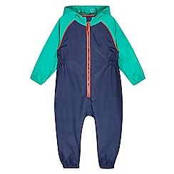 bluezoo - Boy's navy waterproof puddlesuit