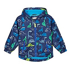 bluezoo - Boys' navy dinosaur print fleece rain coat