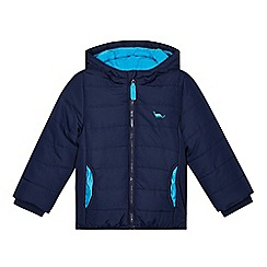 bluezoo - Boy's blue padded hood coat