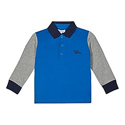 bluezoo - Boy's blue colour block polo top