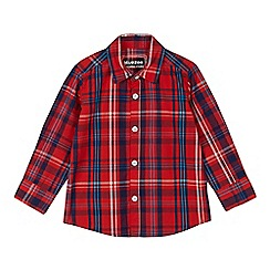 bluezoo - Boys' red check print shirt