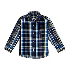 bluezoo - Boy's navy checked shirt