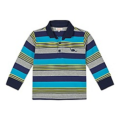 bluezoo - Boy's striped dinosaur polo shirt