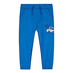 bluezoo - Boy's blue applique car jogging bottoms