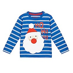 bluezoo - Baby boys' blue Father Christmas t-shirt