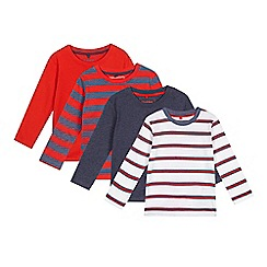 bluezoo - Pack of boys' assorted striped long sleeved t-shirts