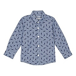 bluezoo - Boys' blue dinosaur shirt