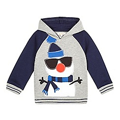bluezoo - Boys' grey snowman sweater