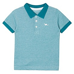 bluezoo - Boy's aqua textured collar polo shirt