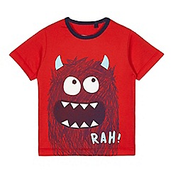 bluezoo - Boys' red monster print t-shirt
