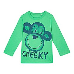 bluezoo - Boys' green monkey t-shirt