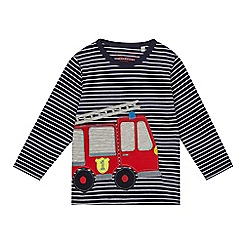 bluezoo - Boys' navy striped fire engine top