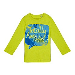 bluezoo - Boys' lime 'totally awesome' t-shirt