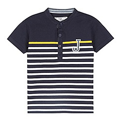 J by Jasper Conran - Designer boy's navy short sleeved striped t-shirt