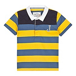 J by Jasper Conran - Designer boy's yellow quilted striped polo shirt