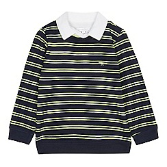 J by Jasper Conran - Designer boy's navy striped zip through hoodie
