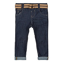 J by Jasper Conran - Designer boy's navy smart belt jeans
