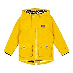 J by Jasper Conran - Boys' yellow hooded raincoat