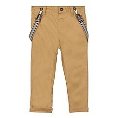 J by Jasper Conran - Designer boy's beige chinos and braces