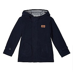 J by Jasper Conran - Boy's navy hooded fleece coat
