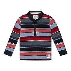 J by Jasper Conran - Designer boy's navy multi striped polo shirt