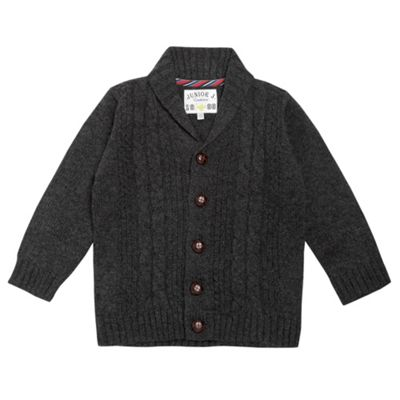Boys Grey Cable Knit Cardigan