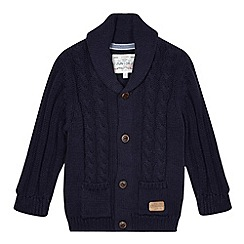 J by Jasper Conran - Designer boy's navy cable knit shawl cardigan