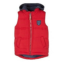 J by Jasper Conran - Boys' red padded hooded gilet