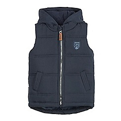 J by Jasper Conran - Boys' navy padded gilet