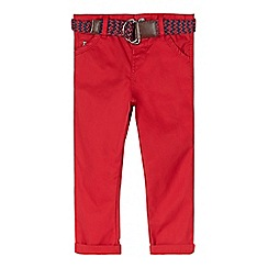 J by Jasper Conran - Designer boy's red belted chinos