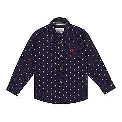 J by Jasper Conran - Boy's navy spot shirt