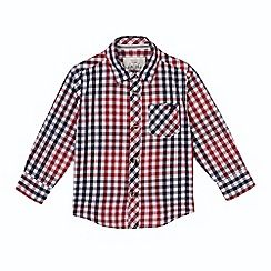 J by Jasper Conran - Boy's red checked shirt