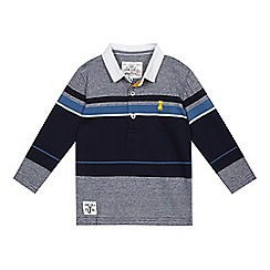 J by Jasper Conran - Boys' blue multi striped polo top