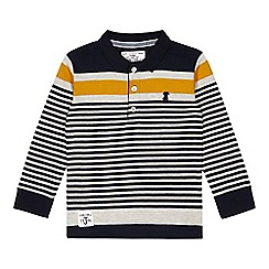 J by Jasper Conran - Boys' yellow striped long sleeved polo top