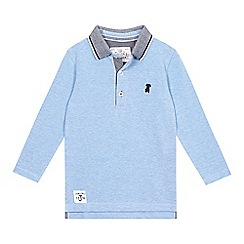 J by Jasper Conran - Boys' blue pique polo top