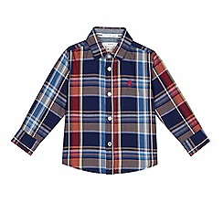J by Jasper Conran - Boys' dark red checked shirt