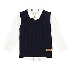 J by Jasper Conran - Navy shirt and tank set