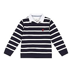 J by Jasper Conran - Boys' navy striped jumper and mock shirt top