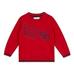 J by Jasper Conran - Boys' red plane jumper