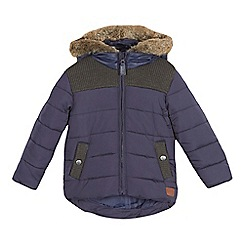 J by Jasper Conran - Boys' navy rib detail padded coat