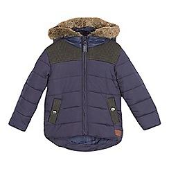 J by Jasper Conran - Boys' navy rib detail padded coat