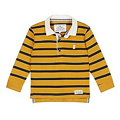 J by Jasper Conran - Designer boy's yellow striped polo top