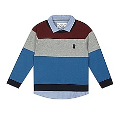J by Jasper Conran - Designer boy's navy block striped shirt jumper