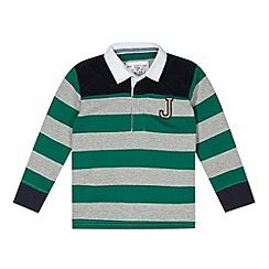 J by Jasper Conran - Designer boy's green striped polo shirt