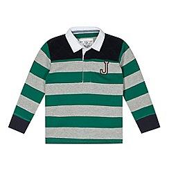 J by Jasper Conran - Designer boy's green striped polo shirt