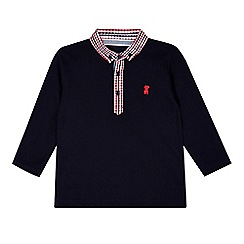 J by Jasper Conran - Designer boy's navy checked collar polo shirt
