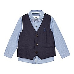 J by Jasper Conran - Designer babies blue waistcoat, shirt and bow tie set