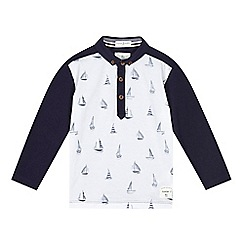J by Jasper Conran - Boys' navy boat polo shirt