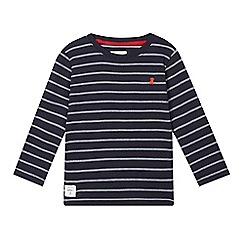J by Jasper Conran - Boys' navy broken stripe top